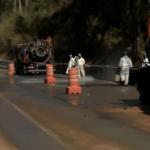 Derramamento de óleo em pistas